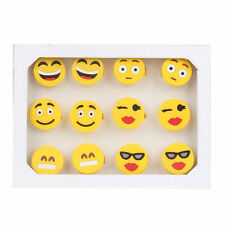 12pcs Silicone Emoji smile Emoticon rings jewelry children girls funny ring 17mm