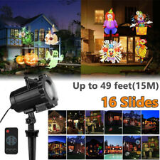 Halloween LED Laser Lights Projector 16 Slides Xmas Garden Party Outdoor Lamp