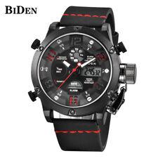 BIDEN LED Calendar 3ATM Water Resistant Men Military Quartz Wrist Watch Rubber