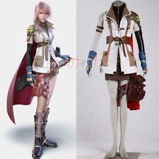 Cafiona Final Fantasy FF XIII Lightning Eclair Farron Cosplay Costume Full Set