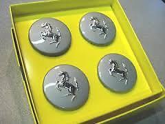 Alloy Wheel Centre Cap Kit Genuine Ferrari Silver F430 F360 458 575M 70001467