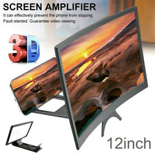 """12"""" 3D Cell Phone Movie Curved Screen Enlarge Magnifier HD Projector Amplifier"""