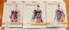 3 Porcelain Collectible Santa Dinner Bells by Classic Treasures Mint Orig. Boxes