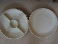 VINTAGE TUPPERWARE PARTY SERVER SET PARTY HORS D'OEUVRE LOVELY CONDITION