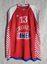 Croatia Basketball 2008 Olympic Official Jersey Kappa #13 Marko Banic