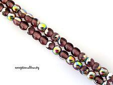 200 Amethyst Vitrail Preciosa Czech Druk Bohemian Glass Round 4mm Beads