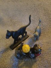 Franklin Mint Curio Cabinet Cats Collection Lot of 3 No Card Or Box