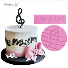 3D Music Note Lace DIY Silicone Mold Fondant Mat Cake Decorating Chocolate Mould