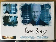 UNIQUE SIGNED Simon Pegg 11.75 x 8.25 Doctor Who one of a kind