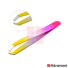 Multi Color Beauty Eyebrow Facial Hair Removal Tweezers Plucking Slanted Tips