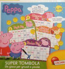 La Super Tombola di Peppa Pig Nuova Sigillata Scrivi e Cancella con 36 schede