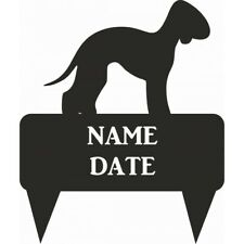 Bedlington Terrier Rectangular Memorial Plaque