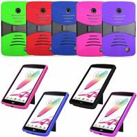 For LG G Pad F 7.0 LK430 Full Body Cover Silicone Combo Hybrid Stand PC Box Case