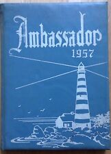 1957 PEOPLE'S BIBLE SCHOOL AND COLLEGE YEARBOOK, THE AMBASSADOR, GREENSBORO, NC