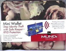 Mundi Women MINI WALLET Faux Leather Ladies RFID Clutch Floral I866X