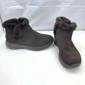 Sketchers Gen 5 Air Cooled Goga Mat Winter Slip On Brown Shoes Women's Size 7.5