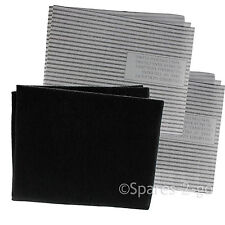 Cooker Hood Filters Kit for ESSENTIALS Extractor Fan Vent Carbon Grease Filter