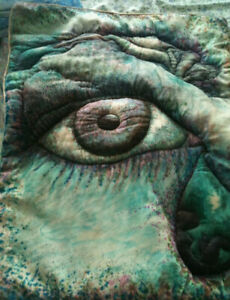 Textile Art Portrait Of Artist Wall Hanging Approx 2 Ft