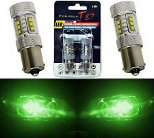 LED Light 80W 1156 Green Two Bulbs Rear Turn Signal Replace Show Use Upgrade JDM