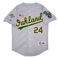 Rickey Henderson de Oakland Athletics 1990 World Series Gris de carretera para Hombre Jersey