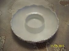 Fenton Milk Glass Hobnail Chip and Dip Bowl Vintage Art Glass Candle Bowl