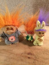 3 Troll Dolls Burger King Dam 1986 Russ