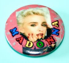VINTAGE MADONNA SMASH HITS STYLE 1980S POP MUSIC BUTTON PIN BADGE