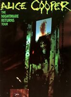 ALICE COOPER 1986 THE NIGHTMARE RETURNS TOUR CONCERT PROGRAM BOOK / NMT 2 MINT