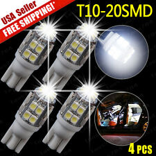 4X 6000K White T10 20-LED 2825 158 194 SMD Interior Light Bulbs 2015 NEW