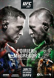 UFC 257 Poster - McGregor vs Poirier 2 - NEW - 4x6 11x17 13x19 17x25 - USA