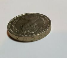 1983 UK Rare Error One Pound Coin - Upside down Rim Text Coin in Great Condition