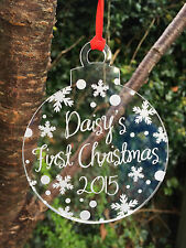 Personalised Engraved Xmas Bauble Christmas Tree Decoration Gift Love Present