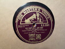 UK HIS MASTER'S VOICE 78 RECORD/TEDDY FOSTER /OLE KING COLE/SWANEE/ VG+