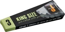 12 JWARE CONES KING SIZE PRE-ROLLED ROLLING PAPER 109MM LOT BULK 4X3 PKS J WARE