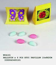 bomboniera 6 scatoline portaconfetti farfalla e coccinella