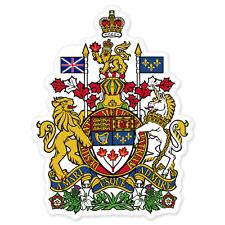 "Canada Canadian Royal Coat of Arms car bumper sticker decal 5"" x 4"""