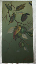 1915  toleware oil painting on tin by S.I. Robbins