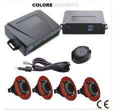 Kit sensori di parcheggio per auto bianchi con regolazione profondità e cicalino