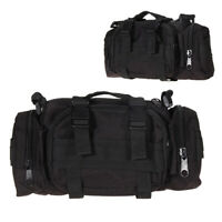 Black Outdoor Military Tactical Waist Pack Shoulder Bag Hiking Pouch Bag Bags