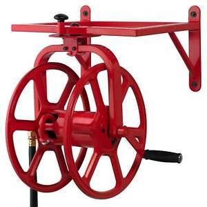 Liberty Garden Revolution Industrial Grade Rotating Garden Hose Holder Reel, Red