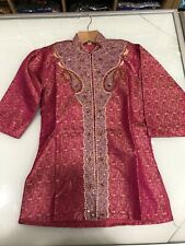 Boys Indian Bollywood Party wear mandarin collar Kurta pajama kids Sherwani 933