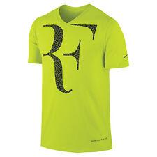 Nike Men's RF Roger Federer SS V-Neck T - Shirt 646559-382 MEDIUM M Cyber Tees