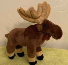"""Standing Moose Plush Stuffed Animal by Wild Republic 9"""" Tall & 9"""" Nose to Tail"""