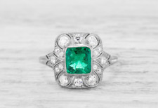 Unique Rectangle Cut 0.95 Carat Emerald Gemstone With 925 Sterling Silver Ring