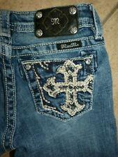 Size 12 MISS ME JK5452M2 CROSS White-Stitched Bermuda Shorts