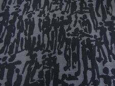 "HARLEQUIN CURTAIN FABRIC DESIGN ""People"" 1 METRE OLD NAVY DENIM WOVEN DESIGN"