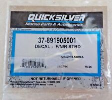 37 891905001 OEM Mercury Mercruiser Quicksilver Decal Throttle Sticker F / N / R