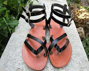 Handmade Greek Leather Sandals, Women's Gladiator Sandals, Ancient Greek Sandals