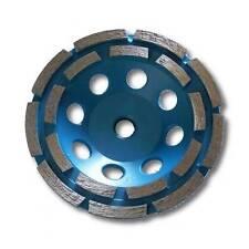 "KENT Premium 5in Grit 30~40 Double Row Diamond Cup Grinding Wheel, 5/8""-11 Arbor"