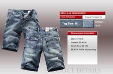 FOX JEANS Men's Allen Standard Fit Blue Denim Mens Jeans Shorts SIZE 32-46
